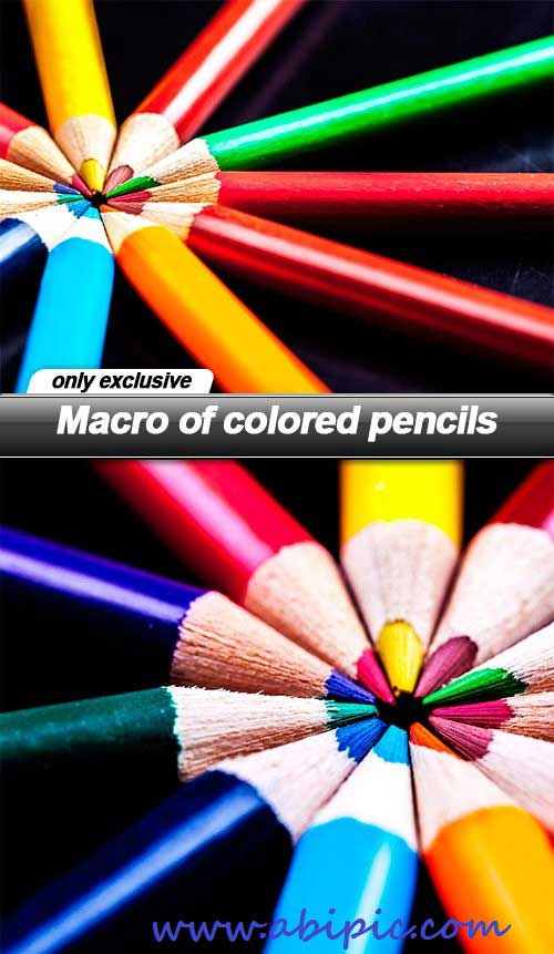 دانلود تصاویر استوک مداد رنگی سری 2 Macro of colored pencils