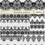 دانلود وکتور پترن های یکپارچه شماره 12 Lace black seamless pattern