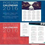 دانلود وکتور پوستر تقویم سال 2016 Poster Calendar