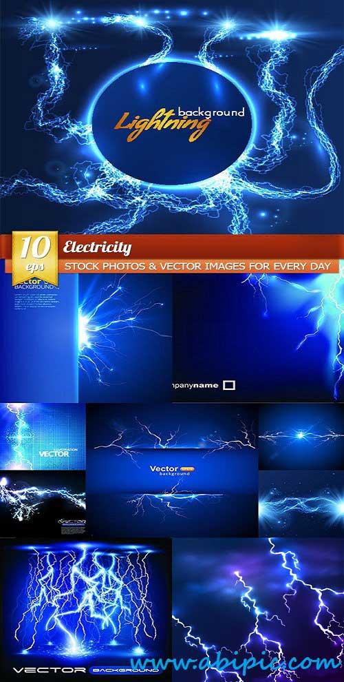 دانلود وکتور رعد و برق و الکتریسیته Vector Electricity