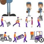 دانلود وکتور تحویل بسته پستی یا دلیوری Vectors – Deliver