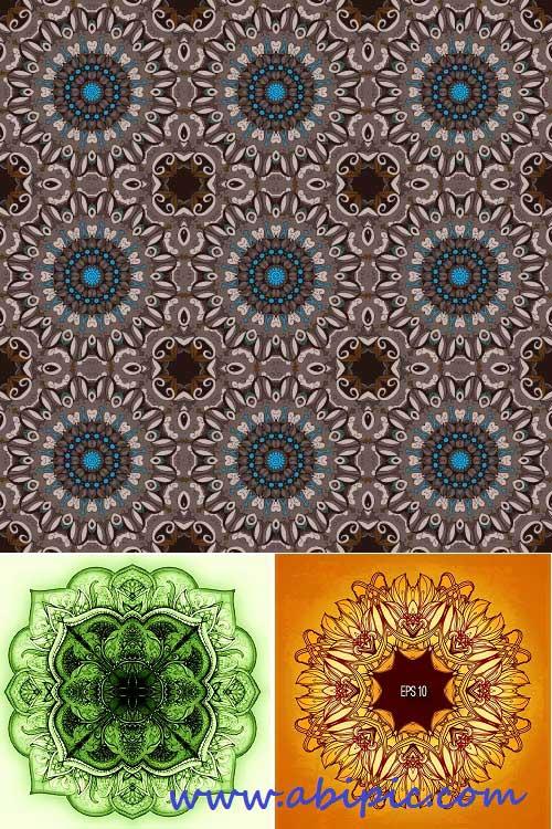 دانلود وکتور طرح های گرافیکی اسلامی سری 3 Islamic Vector Designs SET