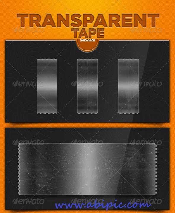 دانلود طرح لابه باز نوار و نوار چسب های شفاف Transparent Tape PSD