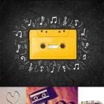 دانلود تصاویر استوک نوار کاست های قدیمی Old cassettes Stock Photo