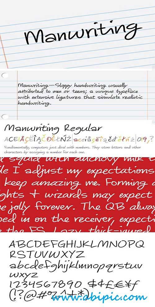 دانلود فونت انگلیسی دست نویس Perfect for Forging Papers and Love Letters