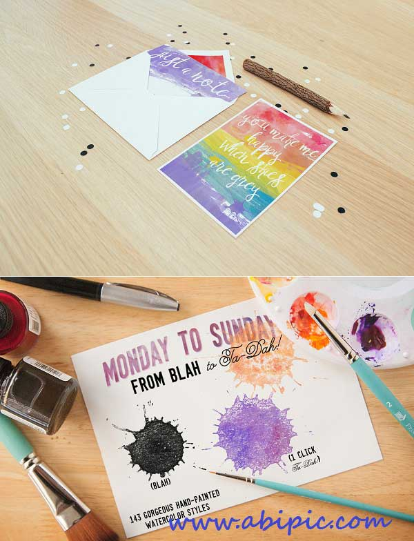 دانلود استایل زیبای آبرنگ به صورت کاملا واقع گرایانه Easy Speedy Watercolor Styles