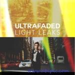 دانلود اکشن فتوشاپ پرتو های نور Ultra Faded Light Leaks Photoshop Actions