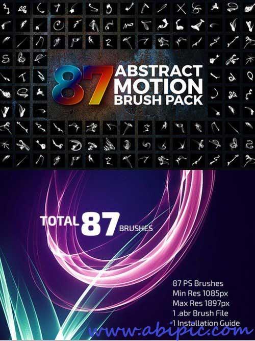 دانلود براش فتوشاپ حرکت Abstract Motion Brushes