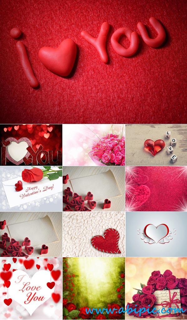 دانلود تصاویر مخصوص روز والنتاین Stock Image Elements to valentine's day