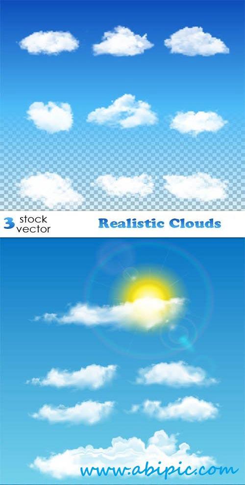 دانلود وکتور ابر Vectors Realistic Clouds