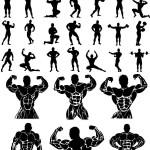 دانلود وکتور بدنسازی و فیگور بدنسازی Vectors – Bodybuilders Set