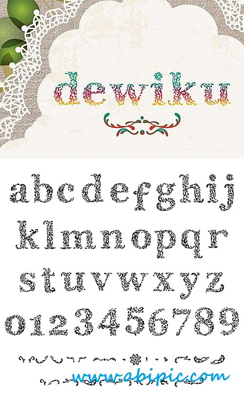 دانلود فونت انگلیسی Dewiku