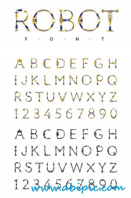 دانلود فونت انگلیسی روبات Robot Font