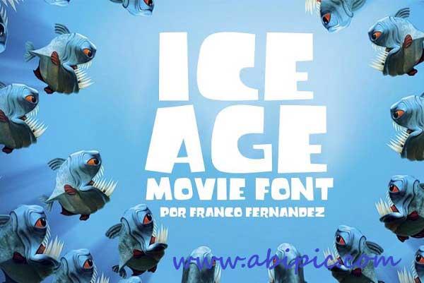 دانلود فونت زیبای عصر یخبندادن Ice age font