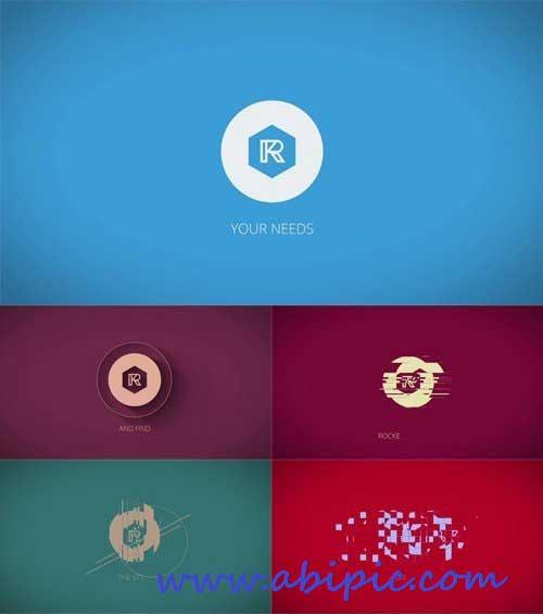 دانلود طرح افترافکت نمایش لوگو با کیفیت 4k و حجم کم Clean Logo Reveal