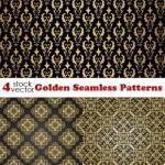 دانلود وکتور پترن های طلایی یکپارچه Vectors – Golden Seamless Patterns