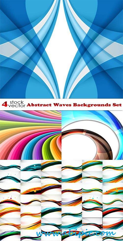 دانلود وکتور پس زمینه انتزائی شماره 13 Vectors Abstract Waves Backgrounds