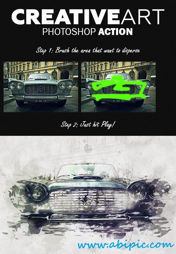 دانلود اکشن ساخت تصاویر خلاقانه و هنری CreativeArt Photoshop Action