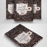 دانلود کارت ویزیت لایه باز شماره 144 با طراحی دانه قهوه CreativeMarket Cafe Restaurant Flyer