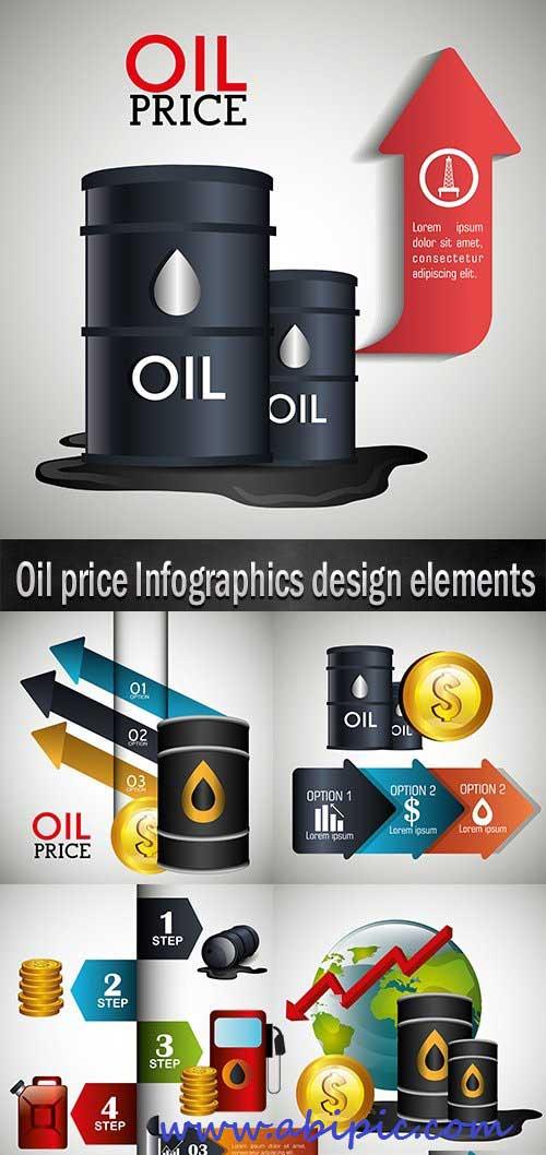 دانلود تصاویر وکتور اینفوگرافیک نفت  Oil  Infographics design