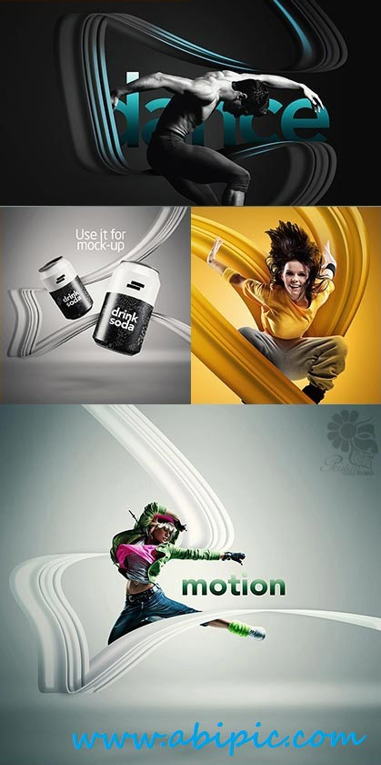 دانلود اکشن فتوشاپ ایجاد خطوط مدرن روی تصاویر Photoshop Action Modern Lines