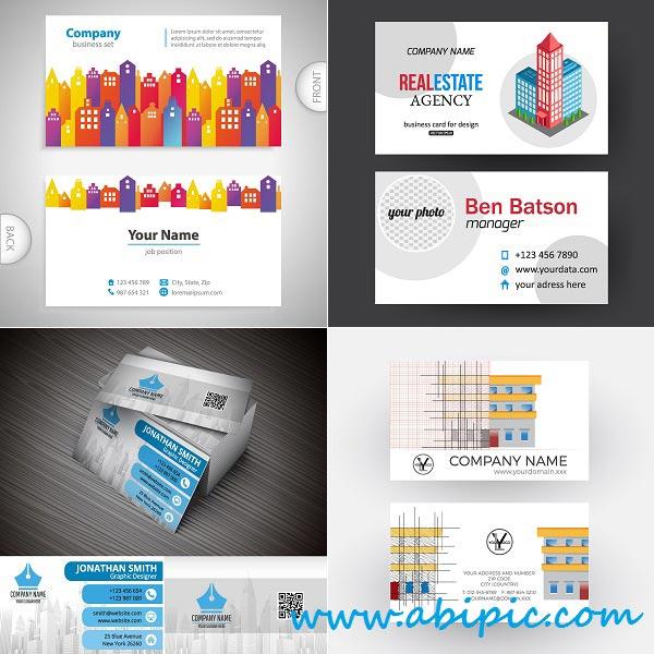 دانلود وکتور کارت ویزیت مشاورین املاک Vectors Real Estate Business Cards