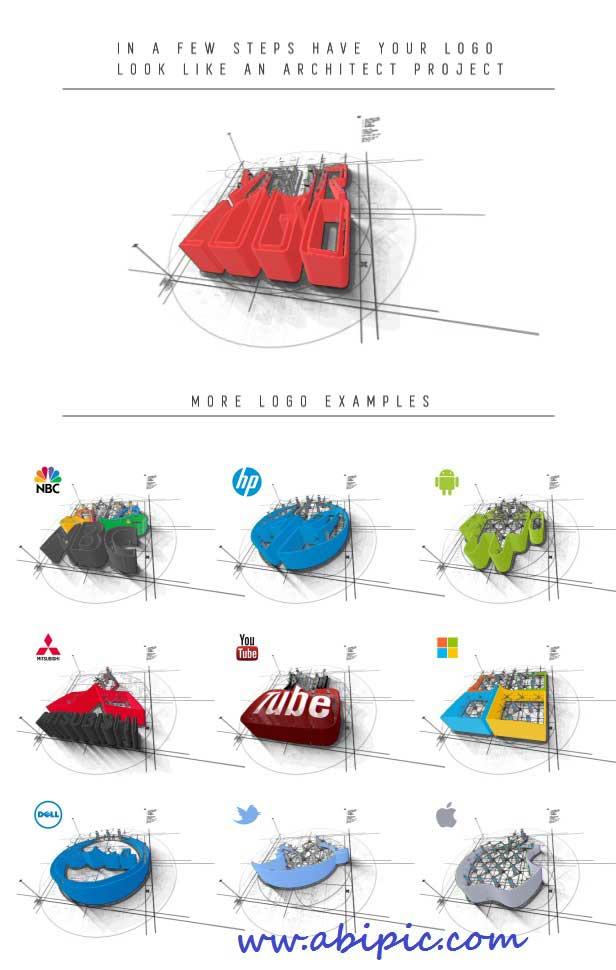 دانلود طرح افترافکت نمایش لوگو و معماری Architect After Effect Logo