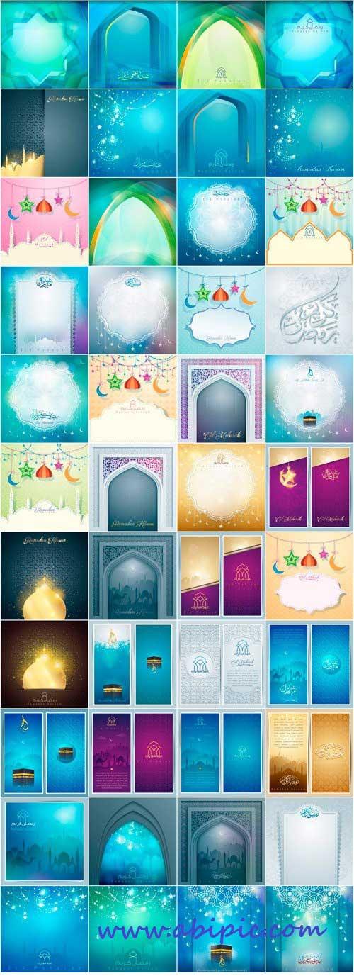 دانلود مجموعه بزرگی از تصاویر وکتور پس زمینه مخصوص ماه رمضان