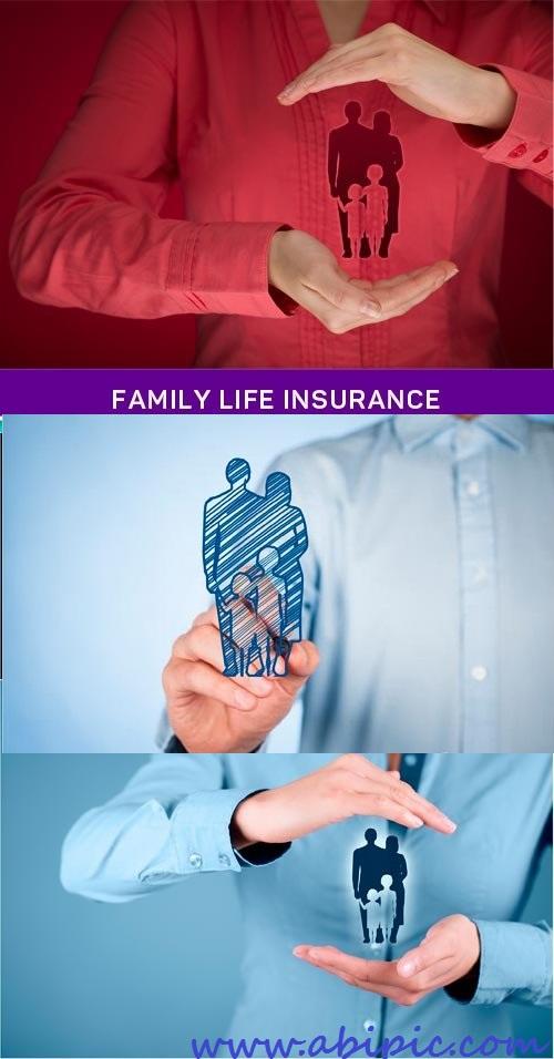 دانلود تصاویر استوک بیمه عمر خانواده Family life insurance