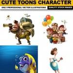 دانلود کارکترهای کارتونی سری 9 Cute Toons Character