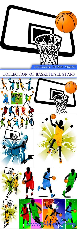 دالود وکتور های زیبا از بسکتبال collection of basketball stars