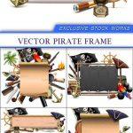 دانلود قاب و فریم عکس دزد دریایی Vector Pirate Frame