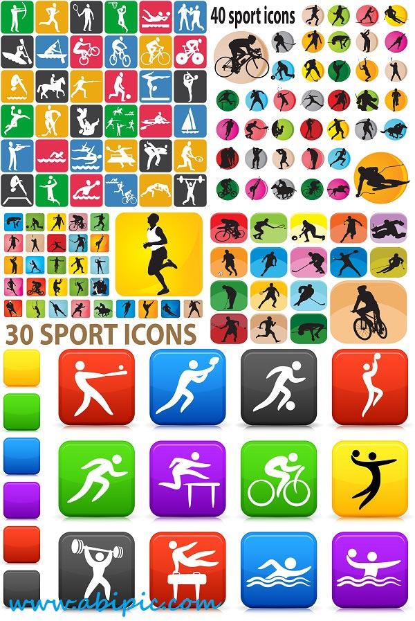 دانلود وکتور مجموعه کامل لوگو و آیکون های ورزشی Sport Logos & icons
