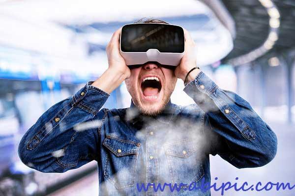دانلود تصاویر استوک دوربین واقعیت مجازی Virtual reality glasses