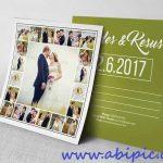 کارت دعوت و کارت پستال عروسی شماره 5 Wedding Postcard Template
