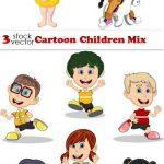 دانلود طرح وکتور کودکان و بازی شماره 5 Vectors – Cartoon Children