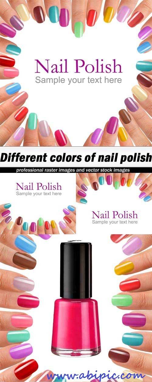 دانلود تصاویر استوک لاک ناخن شماره 3 Different colors of nail polish