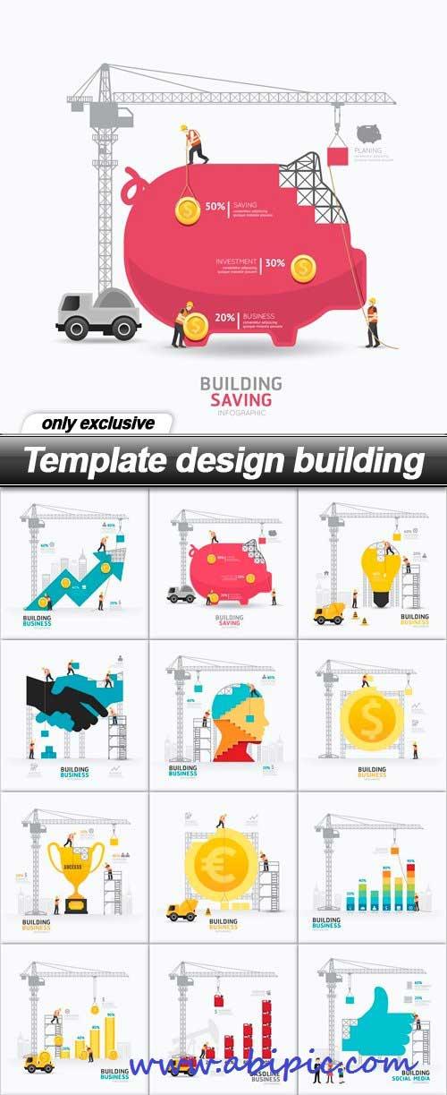 دانلود وکتور موضوعات مختلف با استایل ساخت و ساز Template design building