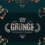دانلود استایل و افکت متن فتوشاپ گرانژ Grunge Style Photoshop