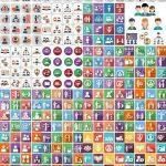دانلود آیکون های منابع انسانی و مدیریت Human resources and management icons
