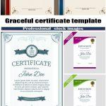 دانلود وکتور گواهی و تصدیق شماره 2 Graceful certificate template