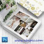 دانلود طرح لایه باز آلبوم و فون عکس شماره 8 Wedding Photobook Template