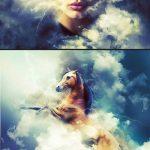 دانلود اکشن هنری فتوشاپ در میان ابر ها