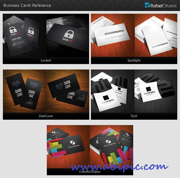دانلود مجموعه ای از 5 کارت ویزیت زیبا Business Cards Bundle 5 in 1