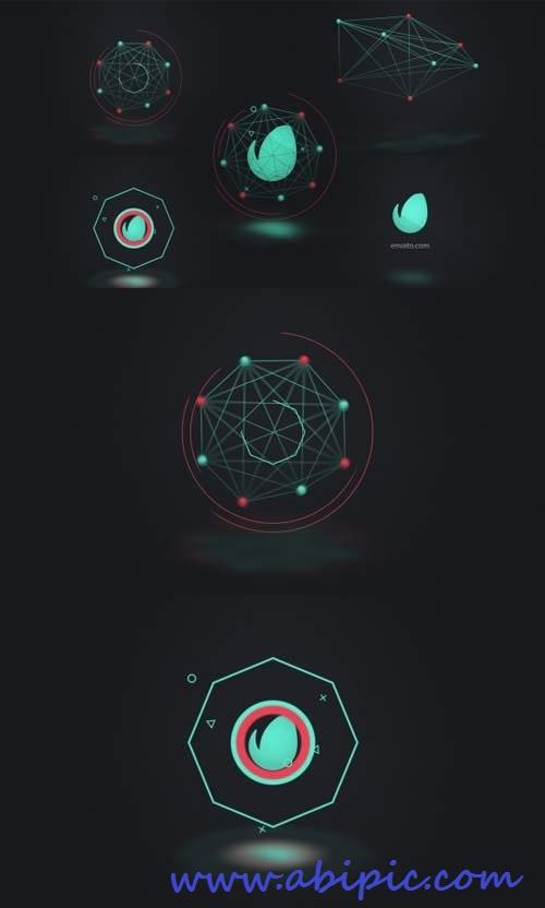 دانلود افترافکت نمایش لوگو مروط به اینترنت و ارتباطات
