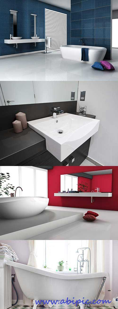 دانلود تصاویر استوک از طراحی و دکوراسیون داخلی حمام Bathroom Interior