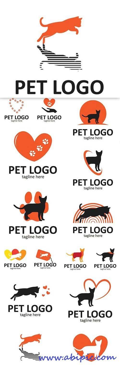 دانلود وکتور آیکون با طرح حیوان خانگی و دست آموز Pet logo vector