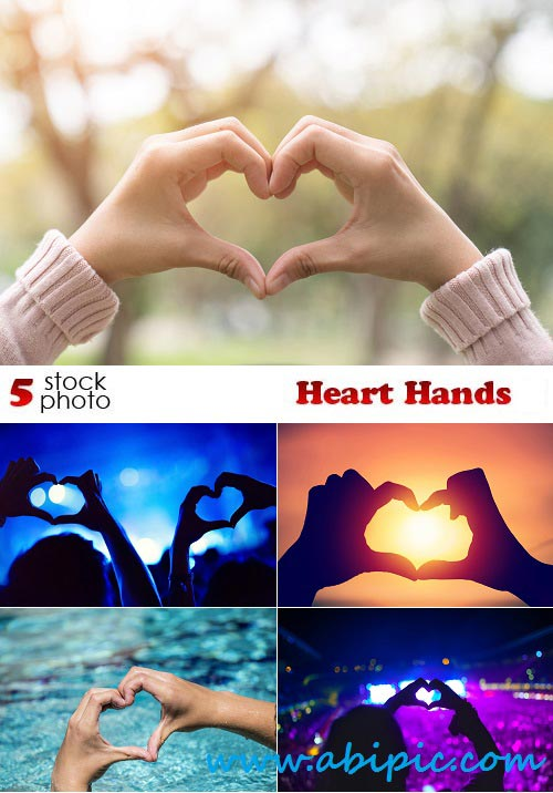 دانلود تصاویر استوک شکل قلب با دست Photos Heart Hands