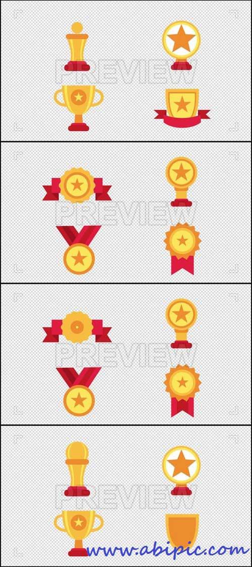 دانلود ویدئو لوپ و فوتیج آیکون کاپ و مدال قهرمانی Award Animated Icons