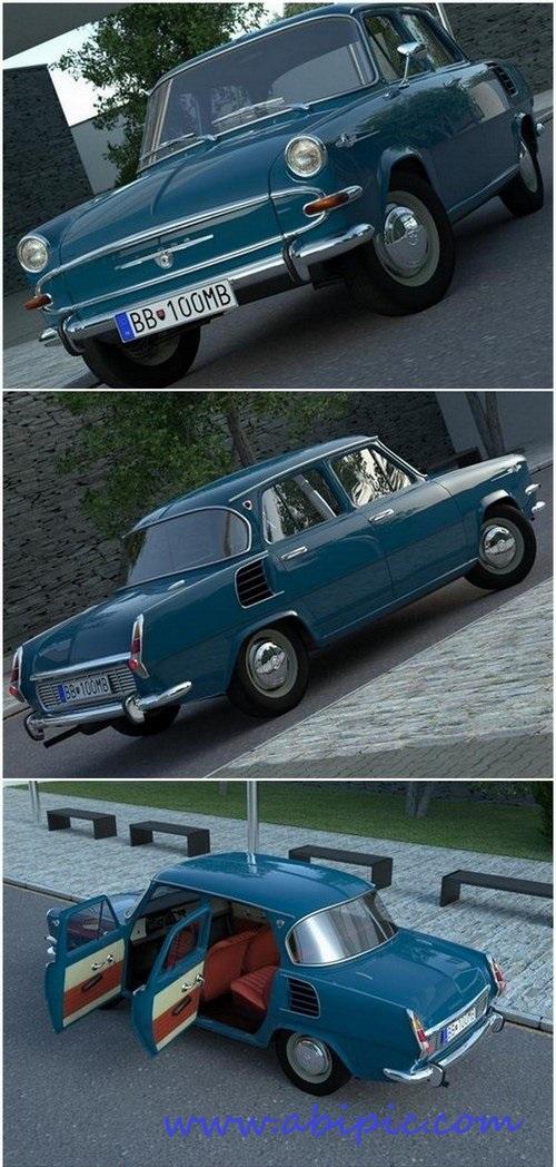 دانلود مدل ۳ بعدی ماشین کلاسیک Skoda 1000
